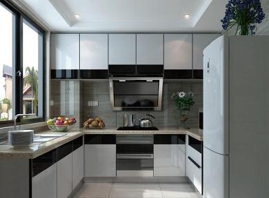现代亮光厨柜