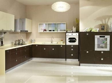 现代深色系厨柜