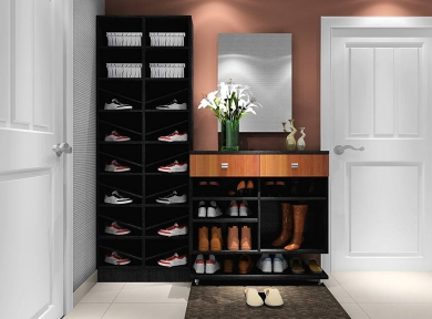 深色现代鞋柜