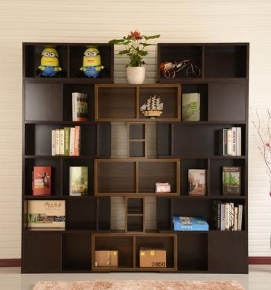 深色系现代书柜